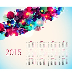2015 year calender abstract background with vector