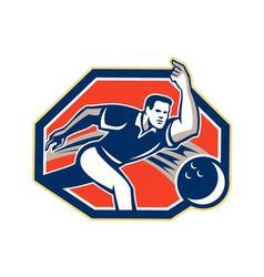 Bowler Throw Bowling Ball Retro vector image