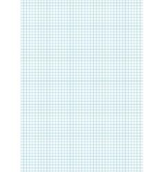 Five millimeters cyan grid on a4 vertical sheet vector image