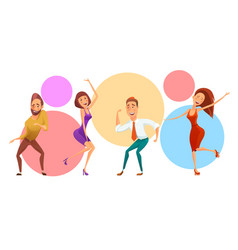 group of people on corporate party vector image vector image