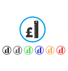 Pound rate rounded icon vector