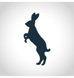 Rabbit black silhouette vector image