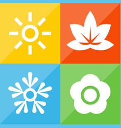 season icons 1 vector image vector image