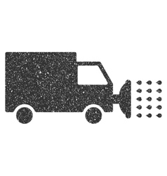 Street washing car icon rubber stamp vector