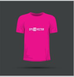 A pink t-shirt vector