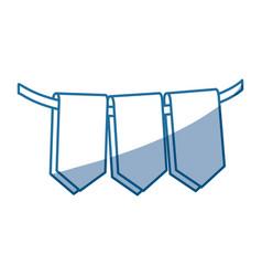 blue color silhouette set decorative pennants vector image