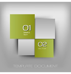 business four squares light green with text vector image