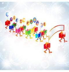 gift parade vector image vector image