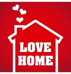 love home design vector image