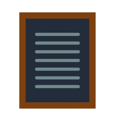 Notebook document checklist test vector image vector image