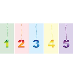 number signs vector image vector image