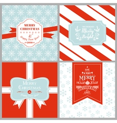Vintage Christmas Tags or Cards vector image vector image