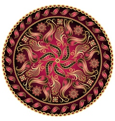 Vintage Floral Motif vector image vector image