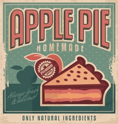 Apple pie vintage poster design vector image vector image