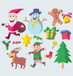 cute christmas character vector image