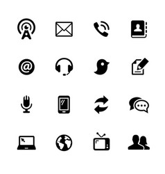 telecommunications icons vector image vector image