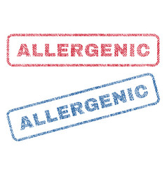 Allergenic textile stamps vector