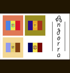 Assembly of flat icons on theme flag of andorra vector