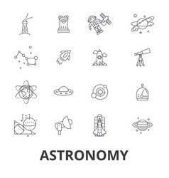 astronomy astrology space star telescope vector image