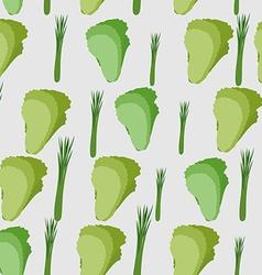 Background green leaf lettuce seamless pattern vector