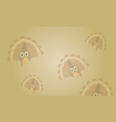 Background thanksgiving theme cute style vector