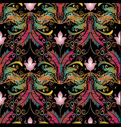 baroque seamless pattern floral background vector image
