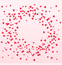beautiful valentines confetti hearts falling on vector image