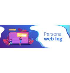 bloging header or footer banner vector image