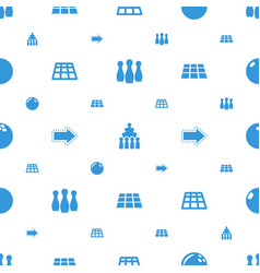Bowling icons pattern seamless white background vector