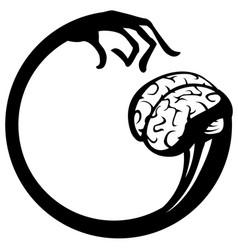 Brain pick stencil vector