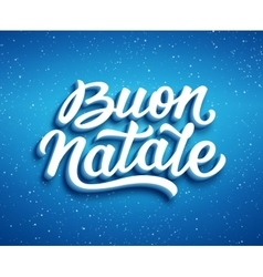 Buon Natale text Christmas greeting card design vector