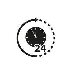Clock non stop support icons vector