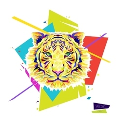 Color tiger head vector