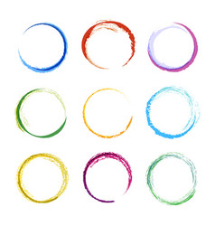 colored circle shapes abstract round frames for vector image