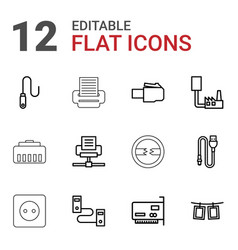 cord icons vector image