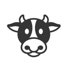 Cow animal head icon vector