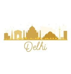 Delhi City skyline golden silhouette vector