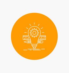 development idea bulb pencil scale white line vector image