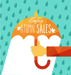 Enjoy autumn sales vector