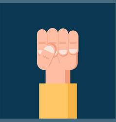 fist hand up freedom solidarity uprising icon vector image