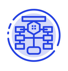 Flowchart flow chart data database blue dotted vector