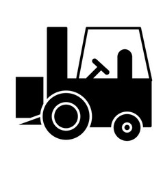 Forklift truck solid icon load vector