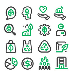 green marketing icon vector image