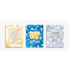 Happy New Year 2017 and Merry Christmas cards vector