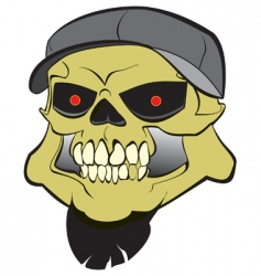 Hard core skull vector