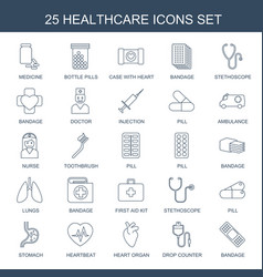 healthcare icons vector image