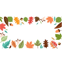 Hello autumn fall season background banner vector
