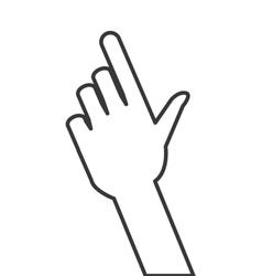 human hand gesture design vector image