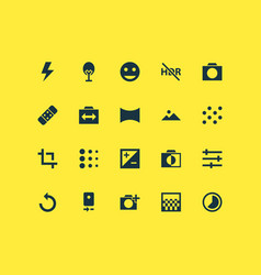 Image icons set with timelapse tune vector