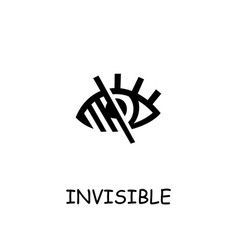 Invisible flat icon vector